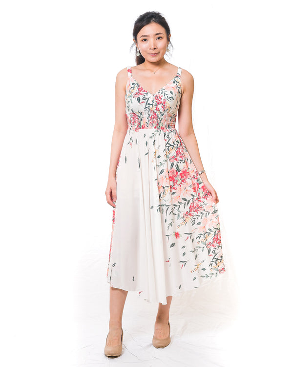 Nari Cascading-Flowers Maxi Dress