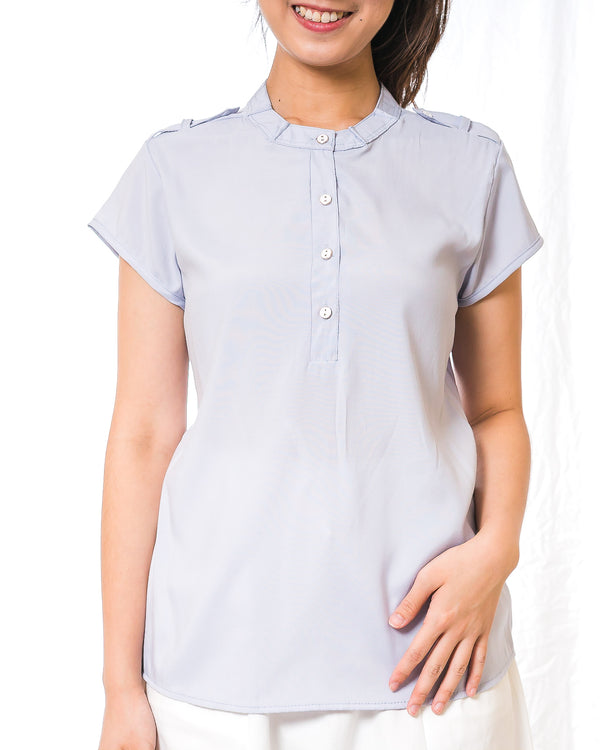 Ai-Cotton Epaulette Top