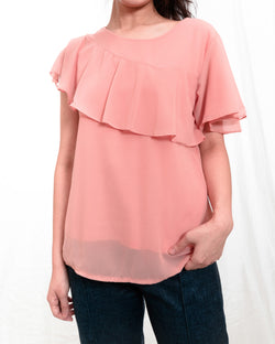 Shanny Cape-like Chiffon Top