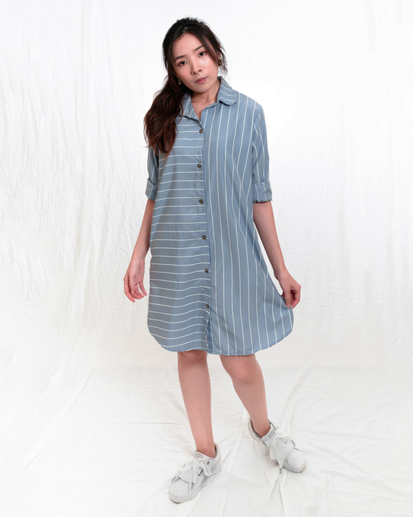 Clara Striped Shirt Dress