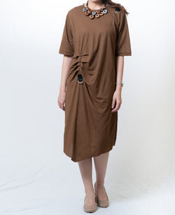 Quincy Brown Draped Dress