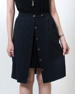 Kai Cotton Button-Front Skirt