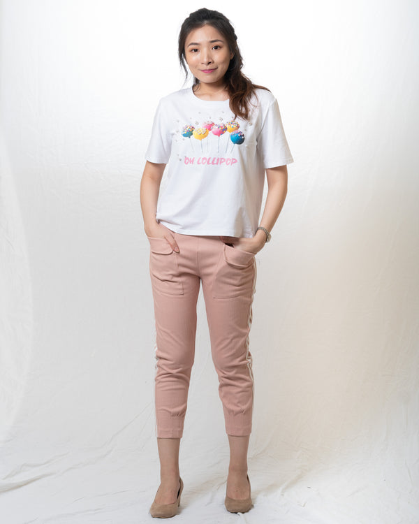 Lollipop Pearl-Embellished Tshirt