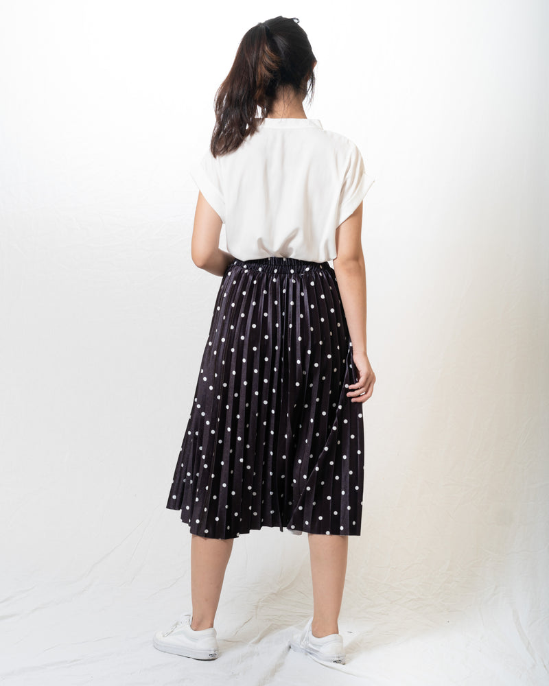 Gail Polka-Dot Midi Skirt