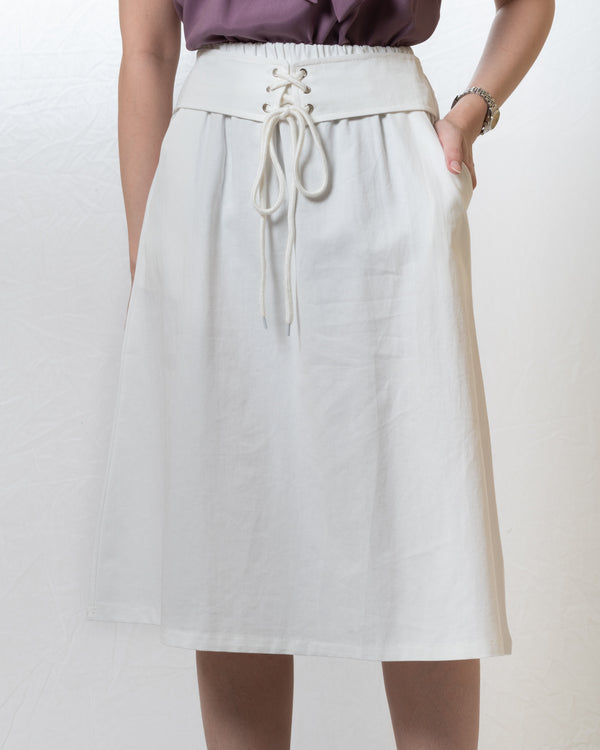 Kai A-line Skirt with Thin Corset Belt