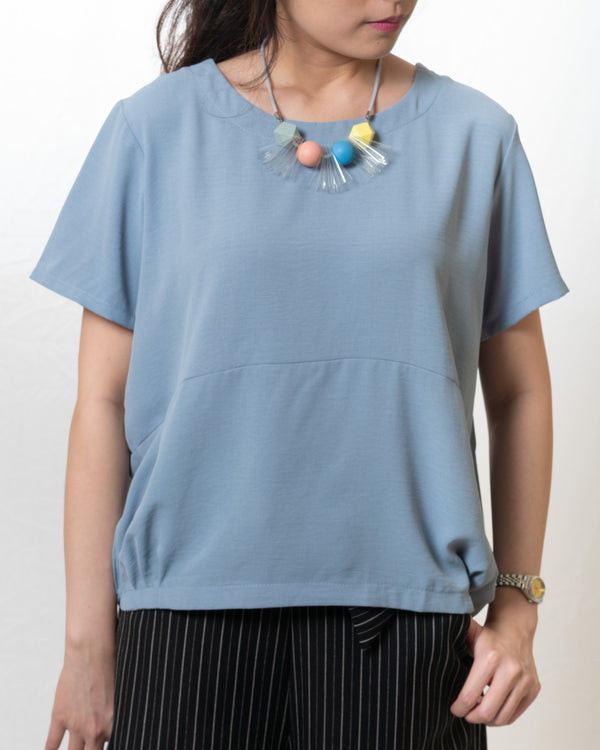 Jill Simple Tapered-Hem Blouse