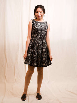 Belinda BnW Matrix-Print A-line Dress