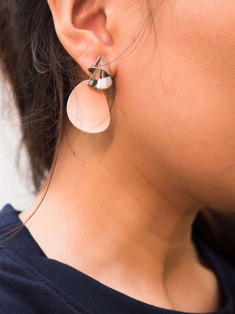 Cone and Disc Earrings