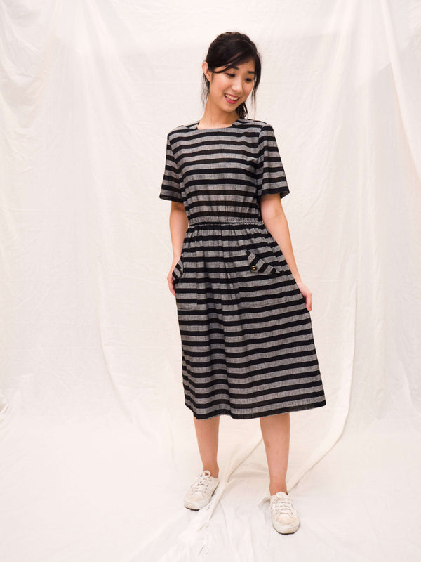 Striped Linen Vintage Dress