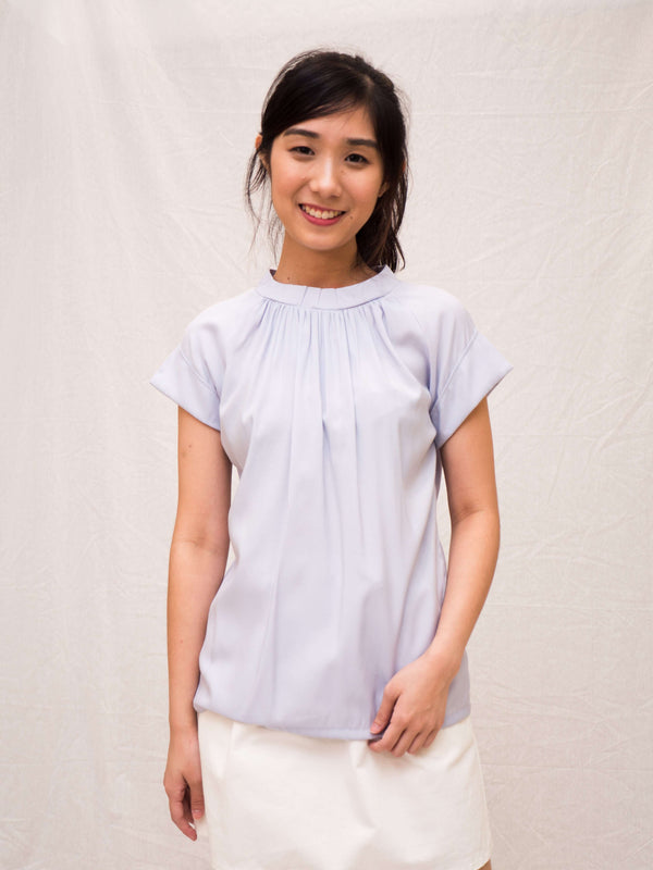 Ai-Cotton High-Neck Top