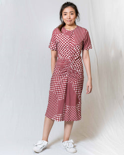 Polka-Dot Fitted Dress