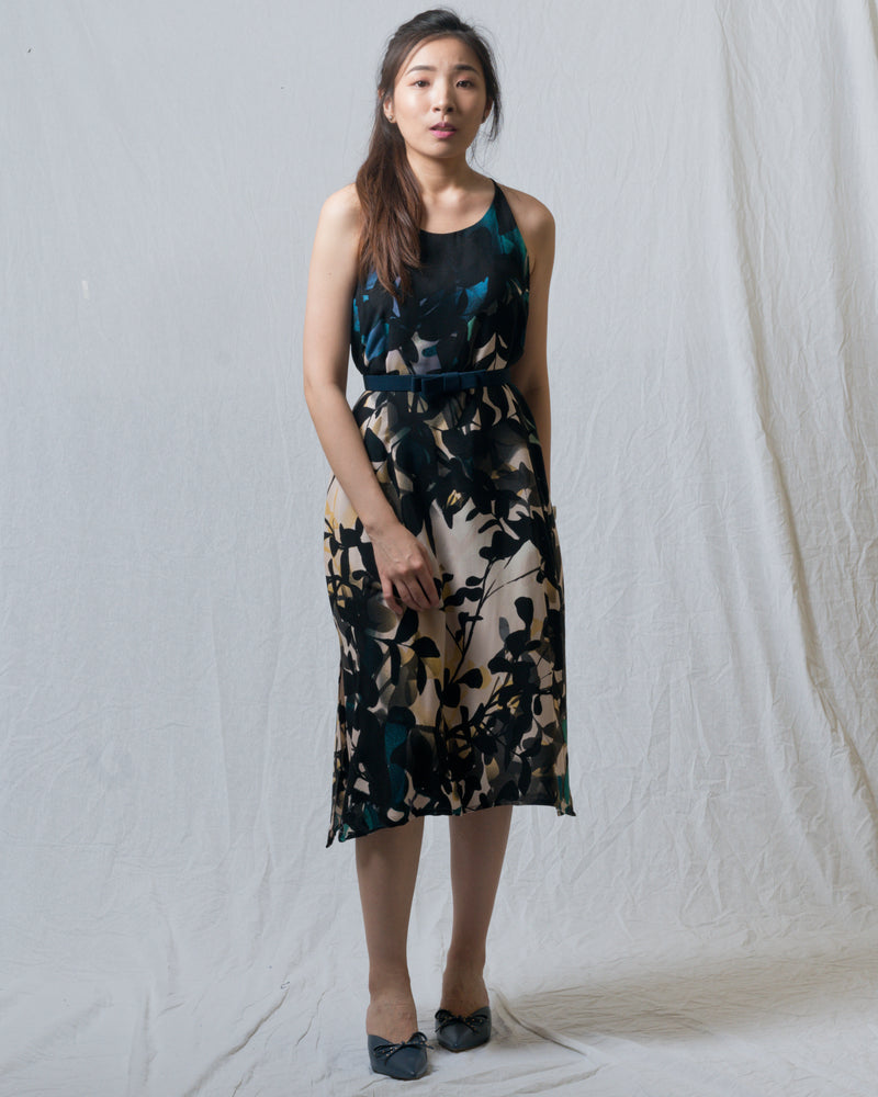 Stacie Black Floral Tank Dress