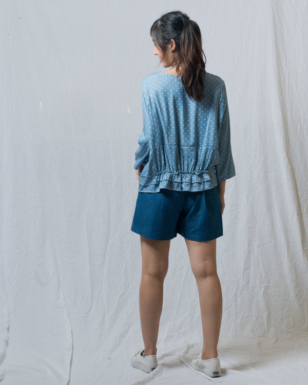 Pony Blue Dotted Short Top