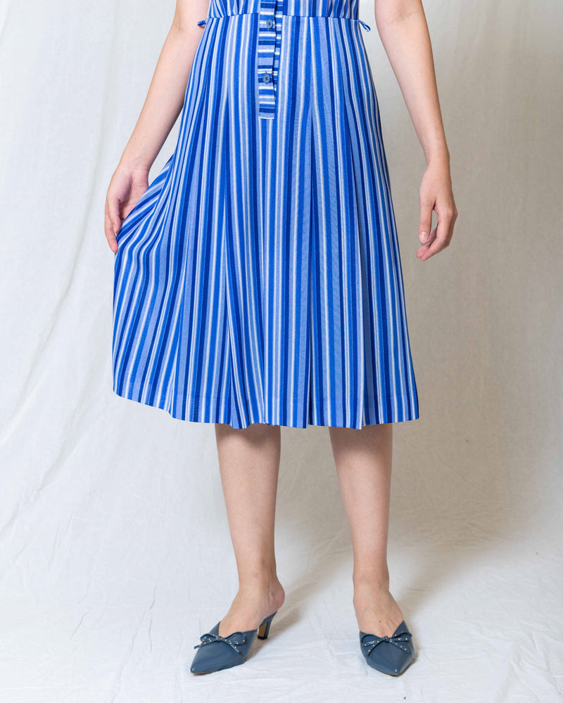 Blue-Striped Vintage Dress