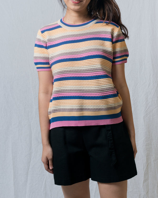 Cindy Colourful Striped Knit Top