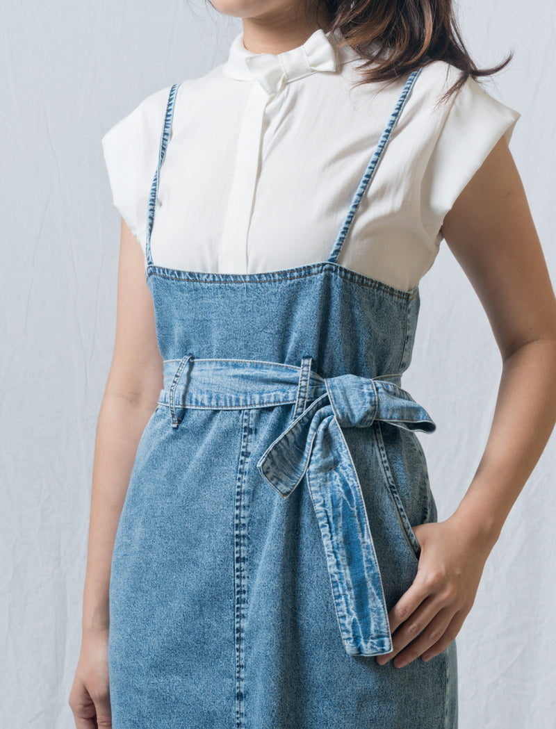Holly Denim Suspender Dress