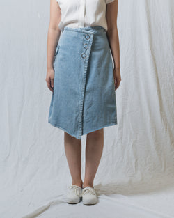 Suanne Denim Wrapped Skirt