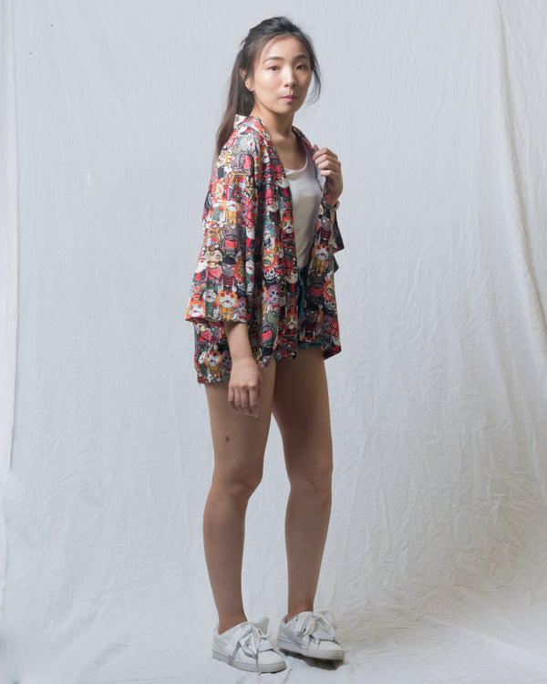 Monsters Fun Kimono Outer