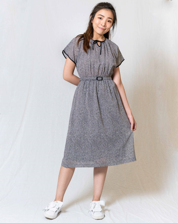 Two-Tone Spotted Vintage Dress
