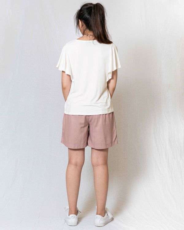 Summer Flutter-Sleeves Rayon Tee