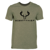 Scent Thief Heather Military Green T Shirt