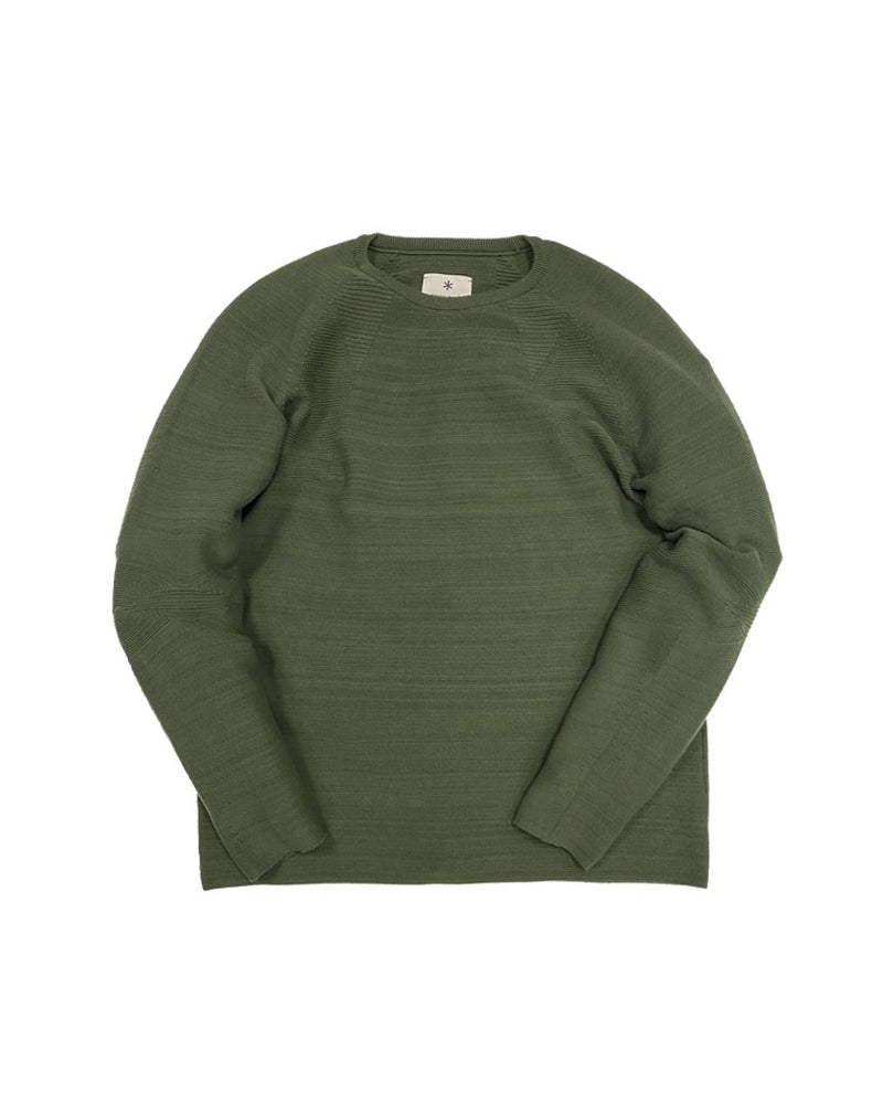 wholegarment stretch knit long sleeve pullover