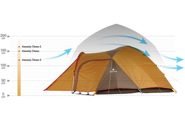 snow peak Amenity dome tent wind structure