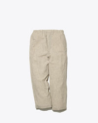 Cotton/Linen Wide Striped Pants - snow-peak-uk