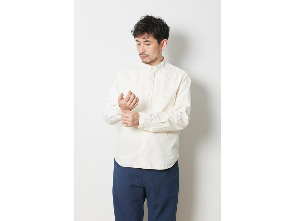Organic Cotton Stand Collar Shirt