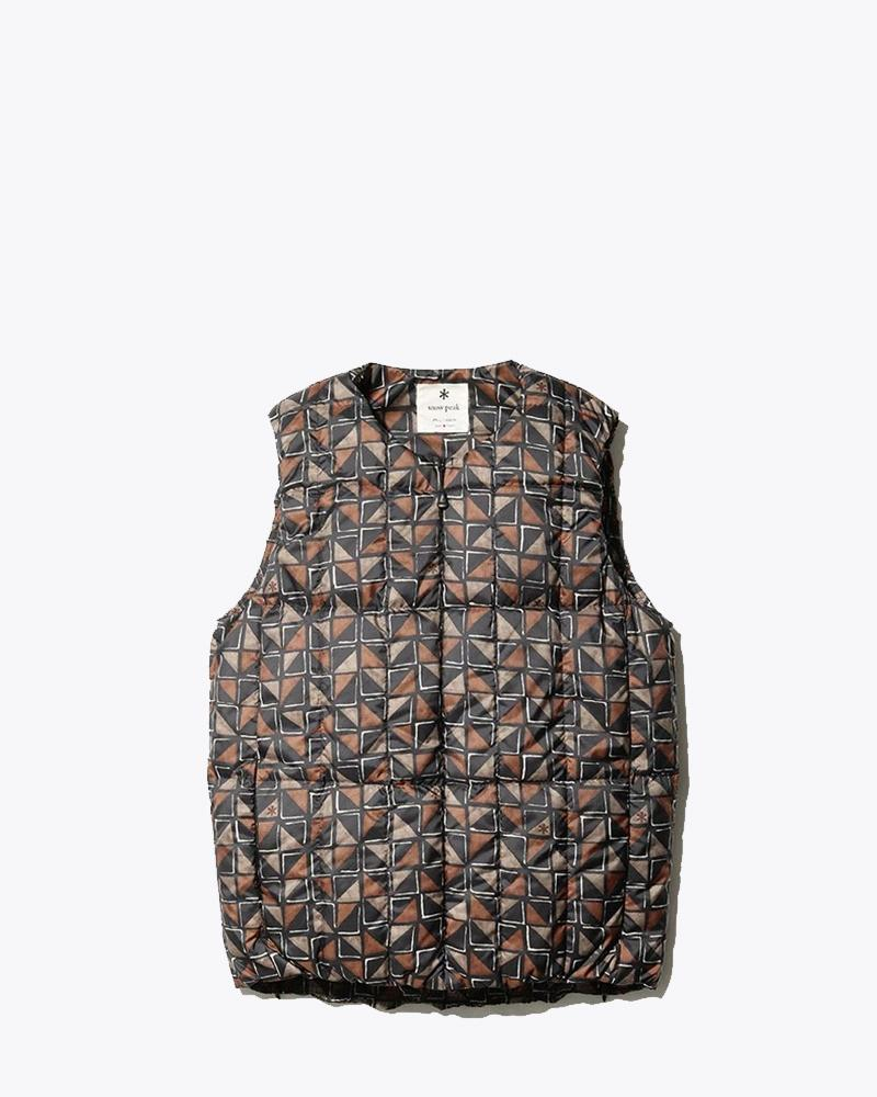 Snow Peak Printed Recycled Middle Down Vest Jk-19Au11500Kh