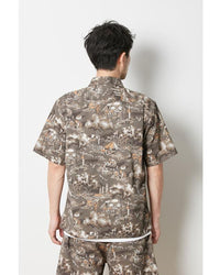 Snow Peak sh-19su102-printed-quick-dry-aloha-shirt