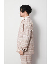 Cotton Silk Jacquard Jacket
