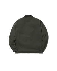 Heavy Cotton Garment Dyed Mockneck Long Sleeve