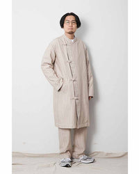 Cotton Herringbone Stripe CN Coat