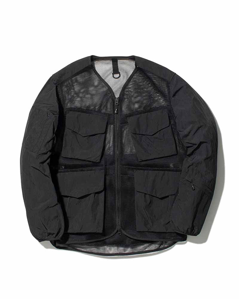 snow peak apparel ss20 mesh jacket black