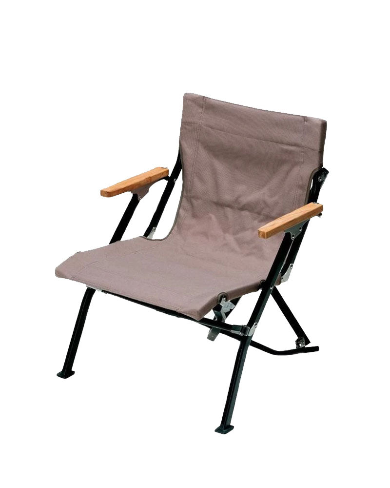 Luxury Low Beach Chair (Ivory & Grey)