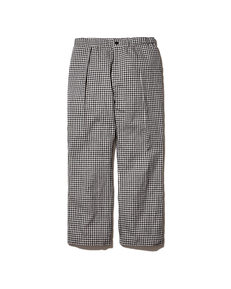 Cotton Linen Easy Pants (Gingham)