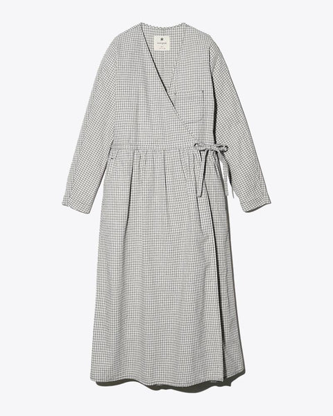Snow Peak sh-19aw204-wrap-dress-gingham-check