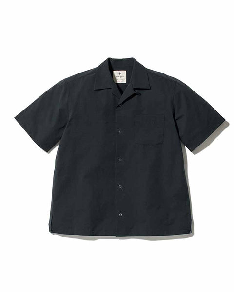 snow peak apparel ss20 Quick Dry Aloha Shirt black