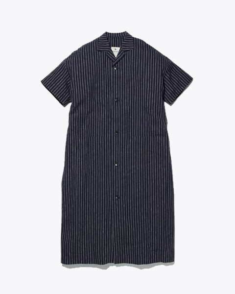 Cotton/Linen Striped Long Shirt