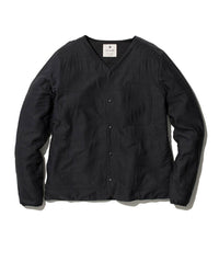 Flexible Insulated Cardigan Black