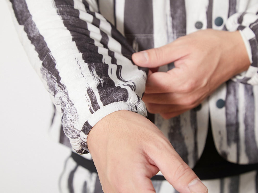 Printed Flexible Insulated Cardigan