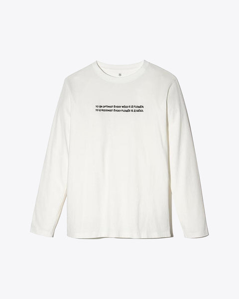 Typography Long Sleeve Tee