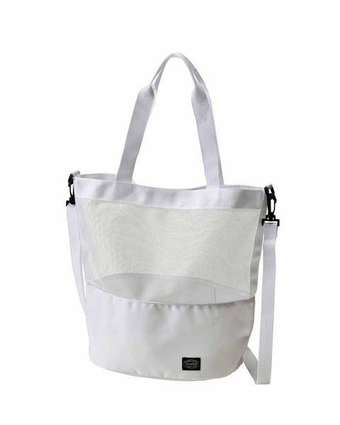 Active Mesh 2way Shoulder Bag (White)