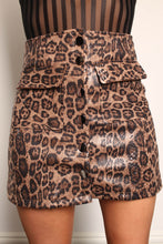 Load image into Gallery viewer, Leopard Scale Print PVC Mini Skirt - Martinali Fashion