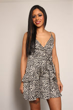 Load image into Gallery viewer, Wrap Front Frill Hem Leopard Dress - Martinali Fashion