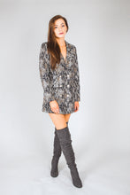 Load image into Gallery viewer, Snake Print Double Breasted Blazer Dress - Martinali Fashion