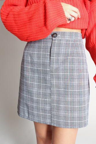 Checked Mini Skirt - Martinali Fashion