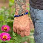 Load image into Gallery viewer, BLUE BELT - Ranked Stone Jiu-Jitsu Bracelet
