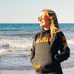 Load image into Gallery viewer, Elevata Co-founder Emily Perry rocking the Sunset Hoodie from Elevata